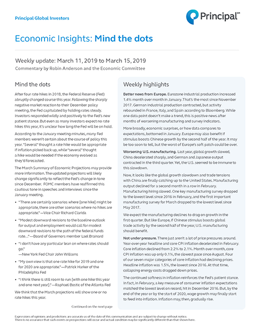 Thumb: Economic Insights - March 11 - 15, 2019