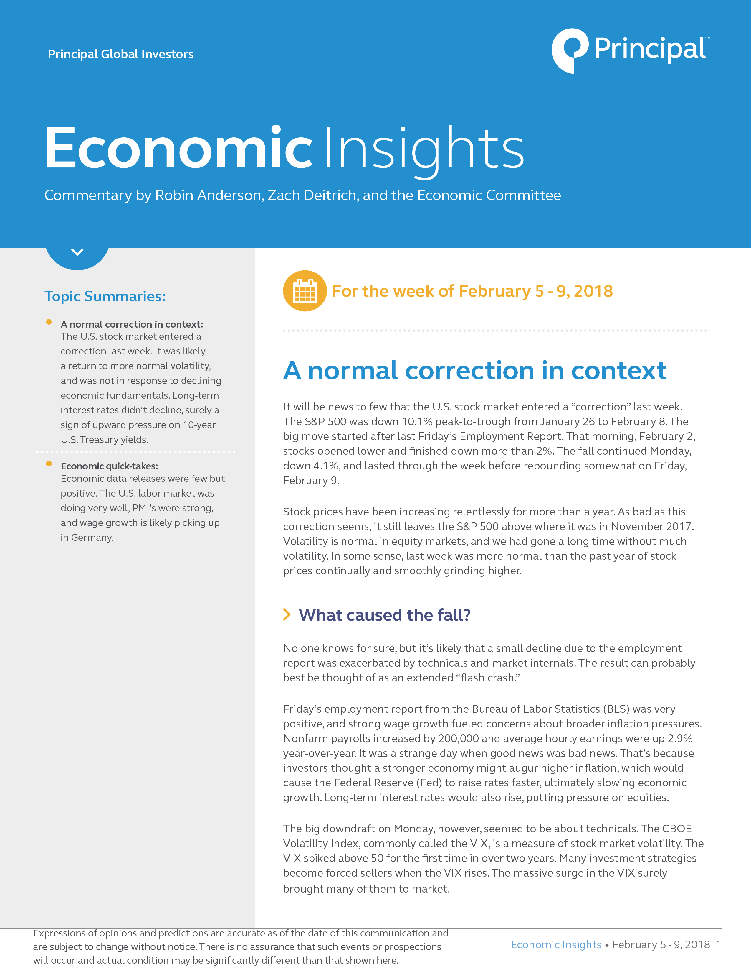 Insights for February 5 - 9