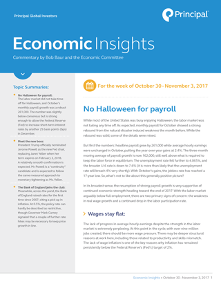 Insights for October 30 - November 3, 2017