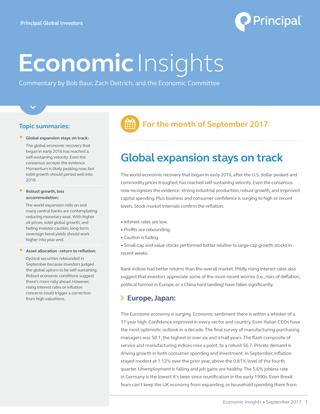 Economic Insights for September, 2017