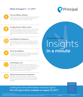 Insights in a minute from August 7-11, 2017