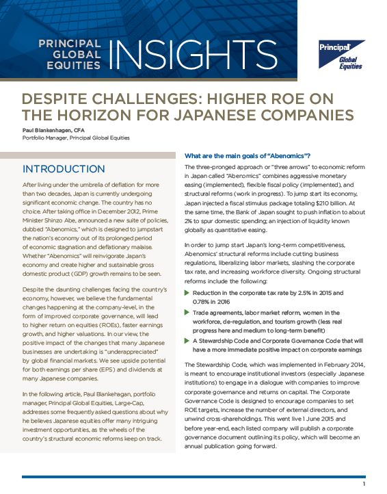 Despite Challenges: Higher ROE on the Horizon for Japanese Companies