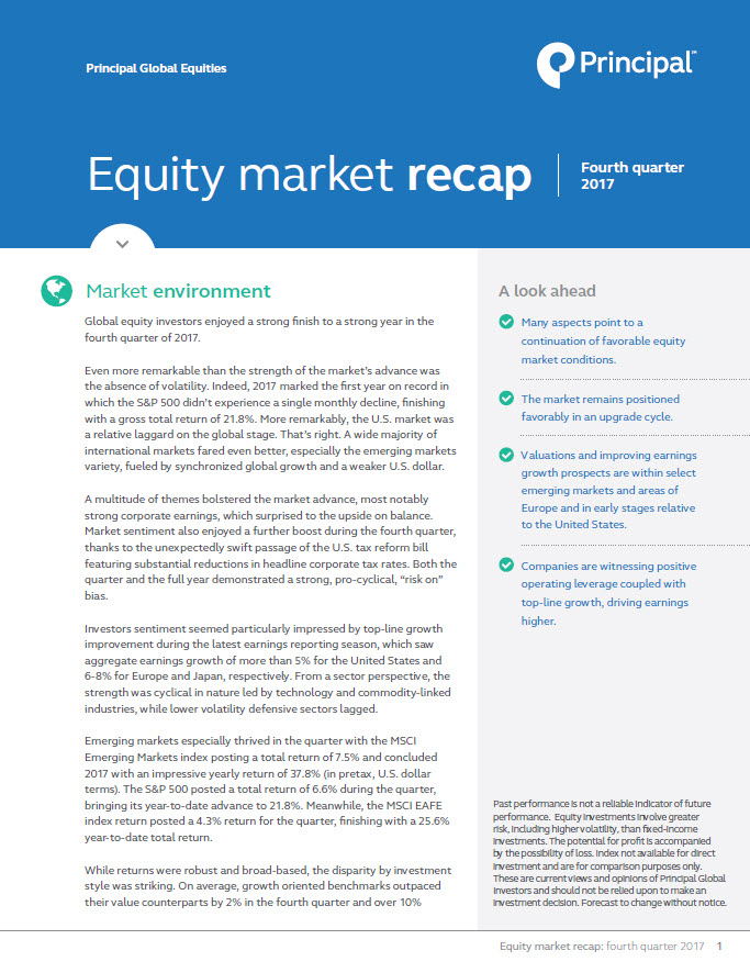 Equity market recap - 4th quarter 2017