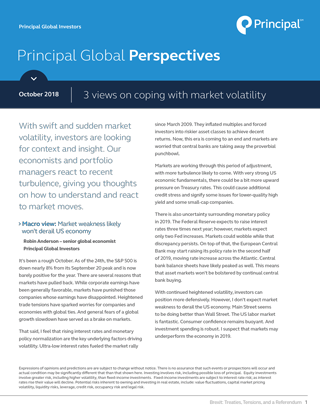 Principal Global Perspectives - 3 views on coping with market volatility