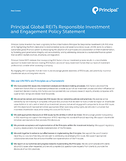 Thumbnail: Principal Global REITs Responsible Investment and Engagement Policy Statement