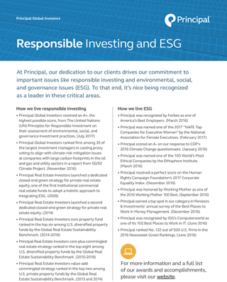 Responsible investing and ESG