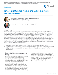 Thumb: Interest rates are rising, should real estate be concerned?