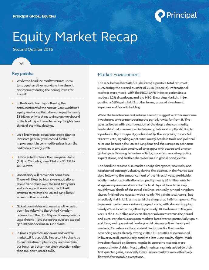 PGE Equity Market Recap