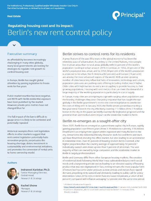 Thumb: Regulating housing cost and its impact: Berlin's new rent control policy