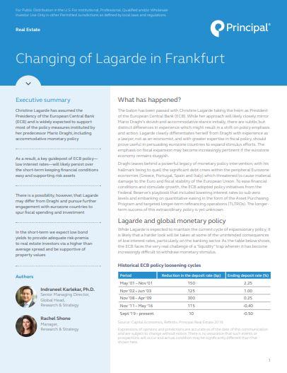 Thumb: Changing of Lagarde in Frankfurt
