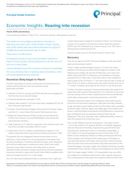 Thumb: Economic Insights, March 2020: Roaring into recession