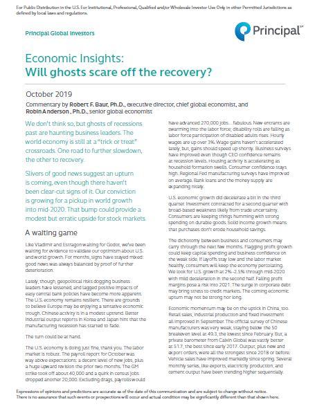 Thumb: Economic Insights - October 2019