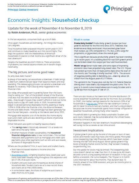 Thumb: Economic Insights - November 4 - 8, 2019