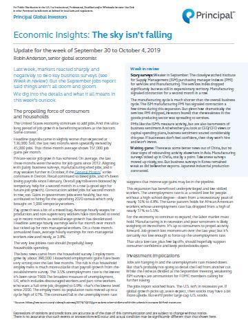 Thumb: Economic Insights - September 30 - October 4, 2019