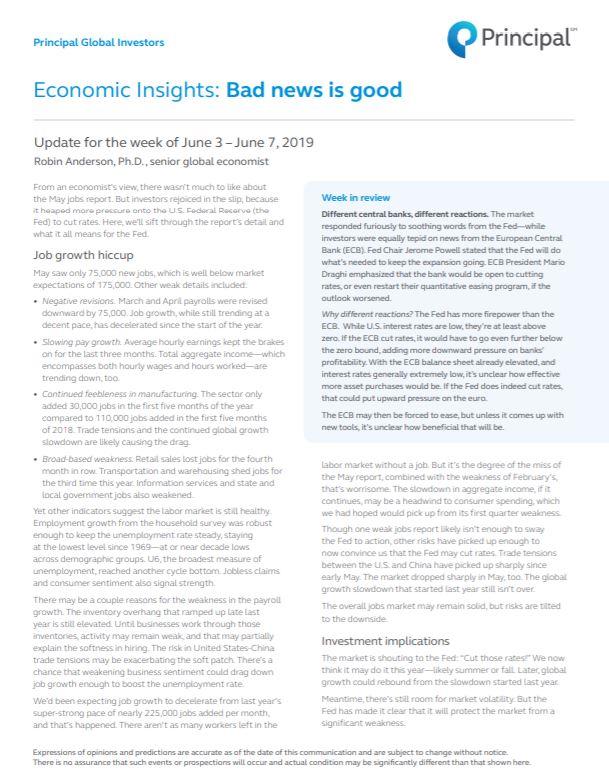 Thumb: Economic Insights - June 3 - 7, 2019