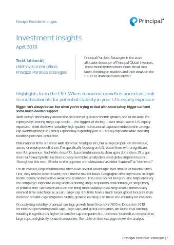 Thumb: Investment Insights - April 2019