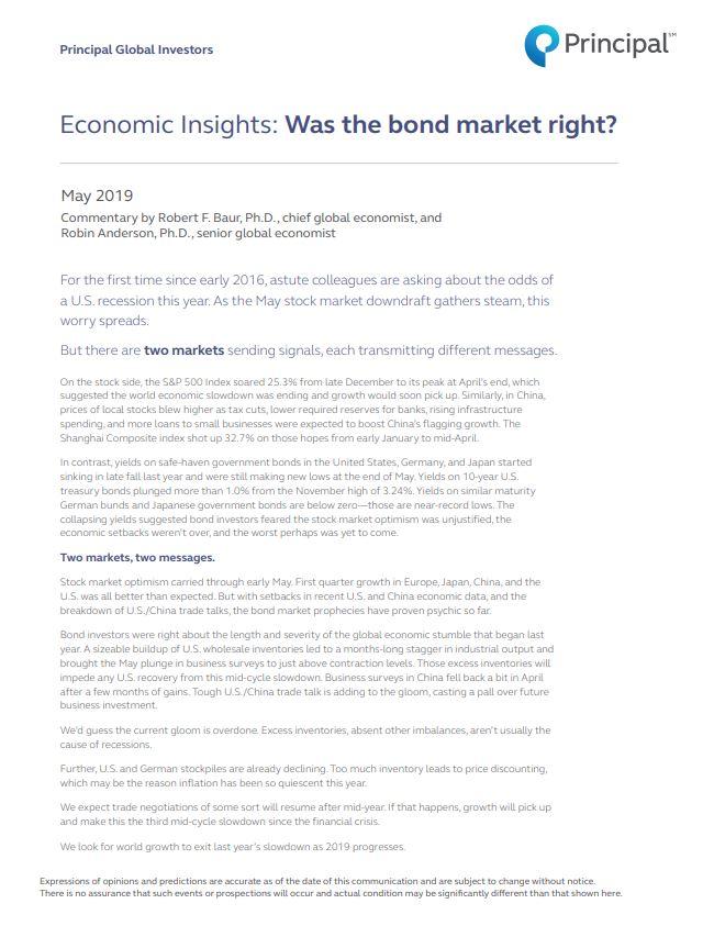 Thumb: Economic Insights - May 2019