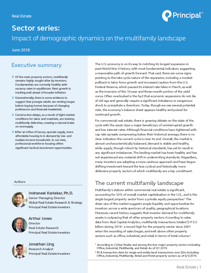 Thumbnail - Sector Series - Impact of demographic dynamics on the multifamily landscape