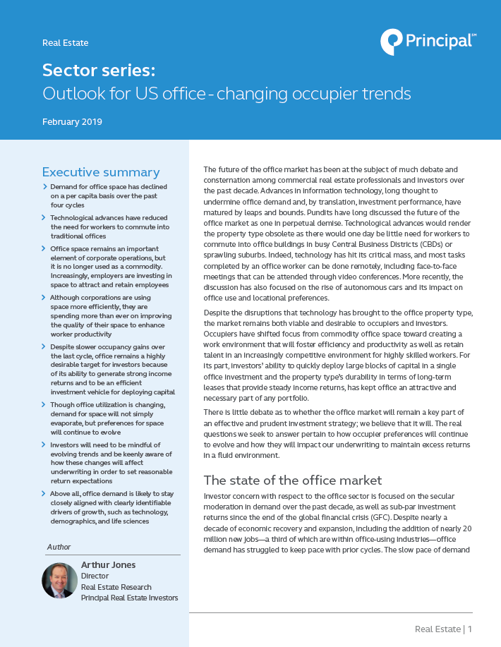 Thumb: Sector Series: Outlook for US office – changing occupier trends