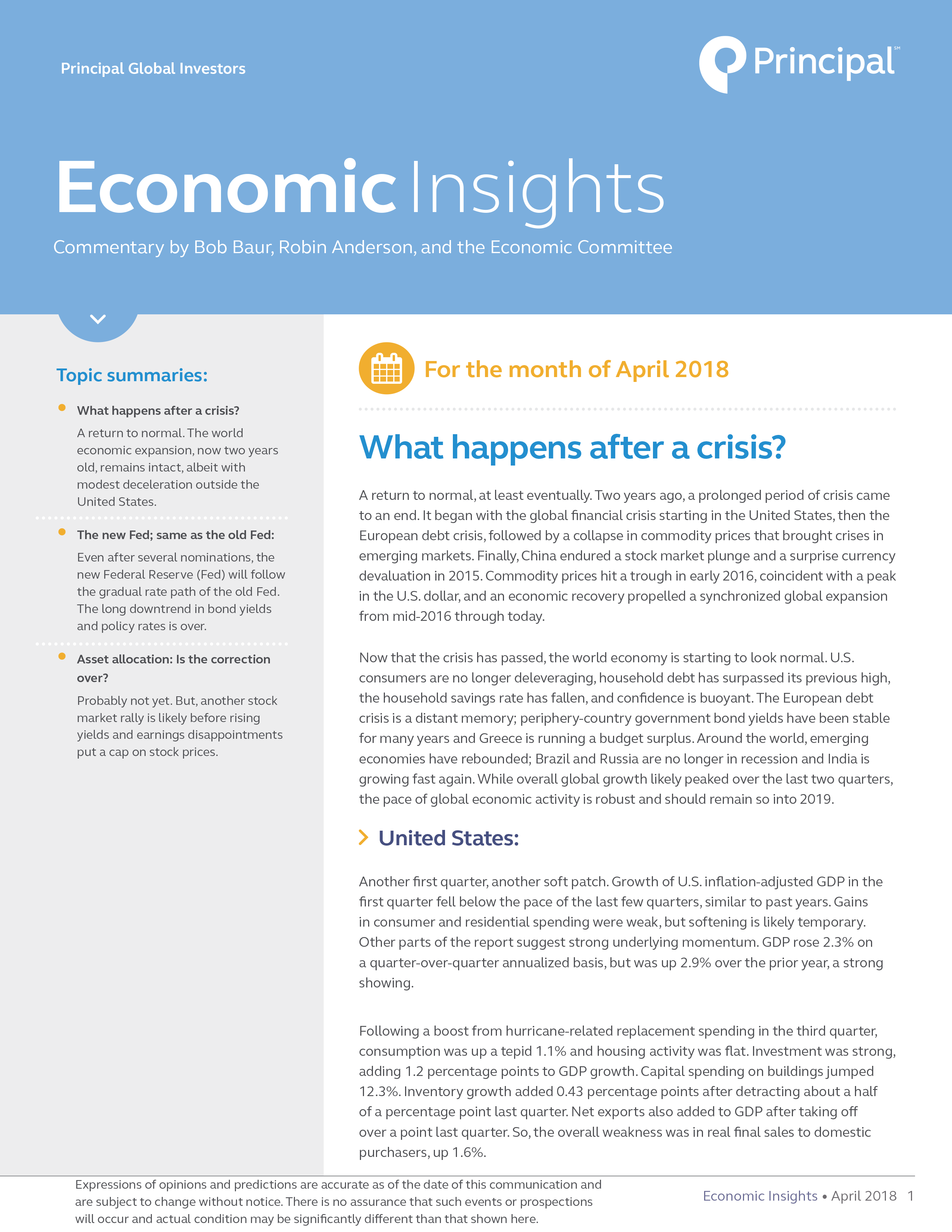 Insights for April 2018