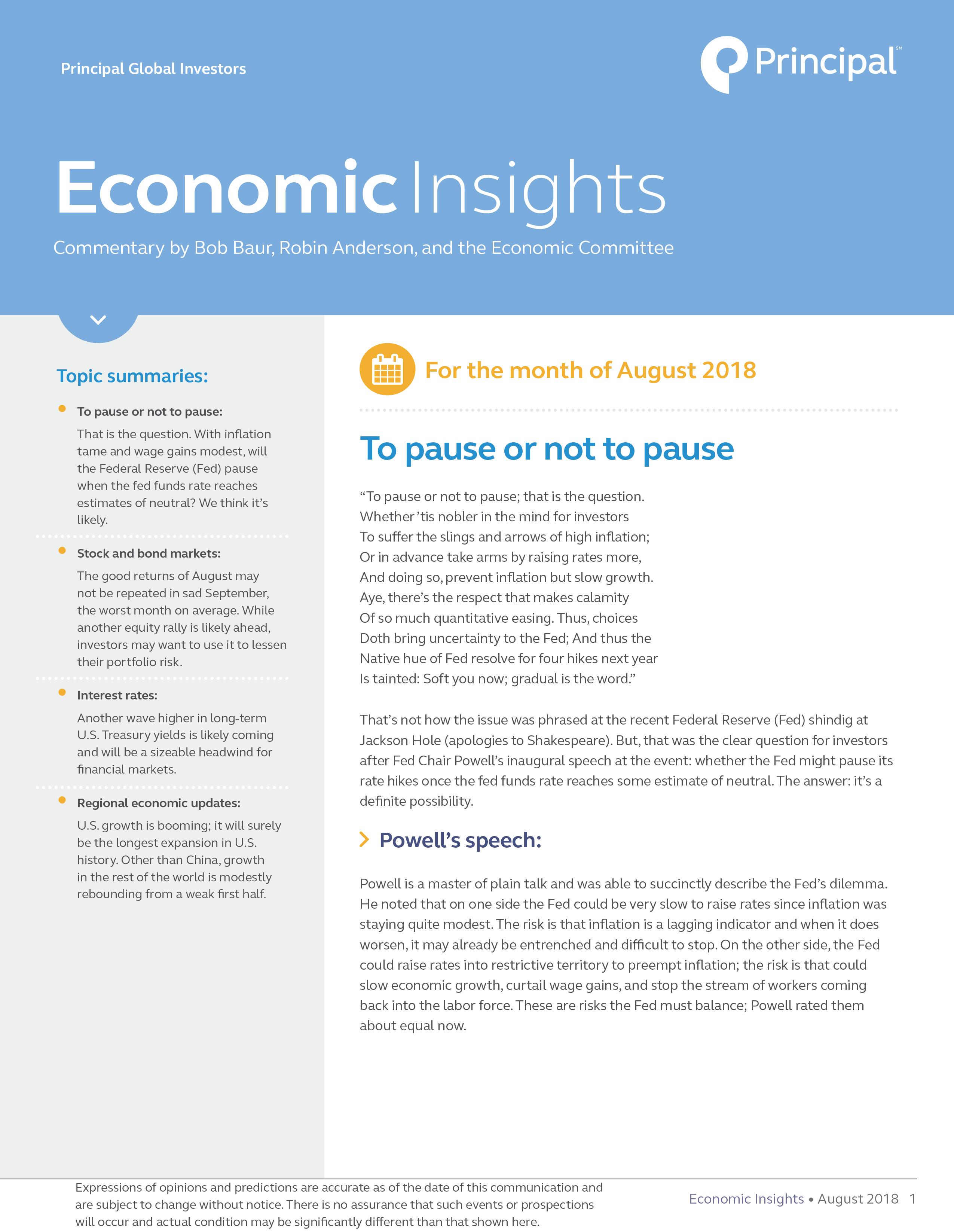 EI month of August