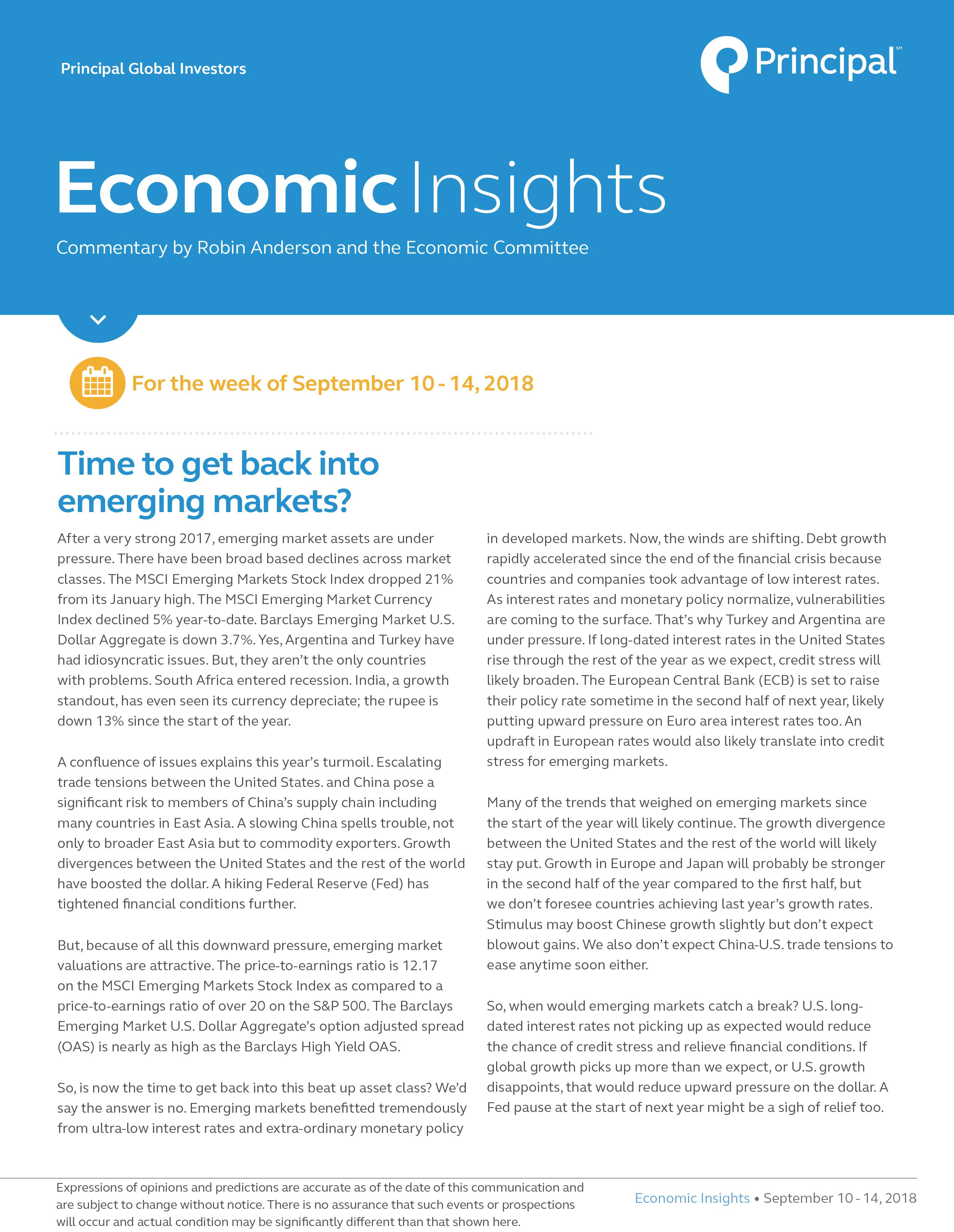 Economic Insights for September 10 - 14