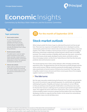 Economic Insights - September 2018 | www principalglobal com |