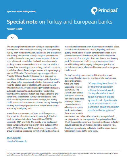 Thumb: Spectrum update: Special note on Turkey and European banks