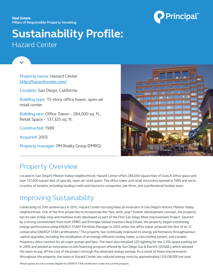 Thumb: Sustainability Profile - Hazard Center