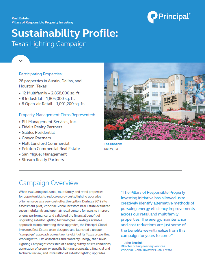 Thumb: Sustainability Profile - Texas Lighting Campaign