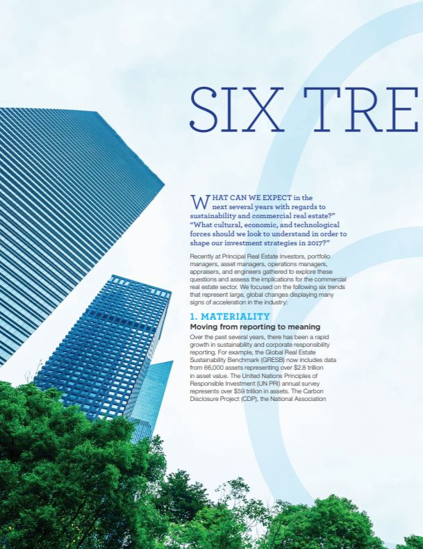 Six trends driving sustainability in commercial real estate