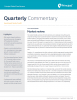Principal Global Fixed Income Investment Grade Credit portfolio managers provide quarterly market commentary